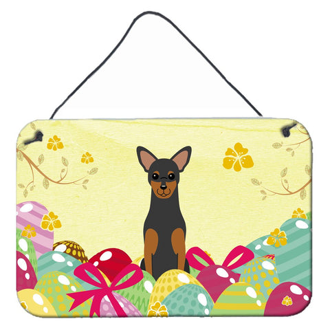 Buy this Easter Eggs Manchester Terrier Wall or Door Hanging Prints BB6028DS812