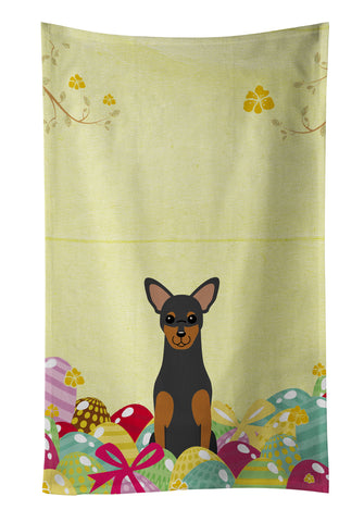 Buy this Easter Eggs Manchester Terrier Kitchen Towel BB6028KTWL