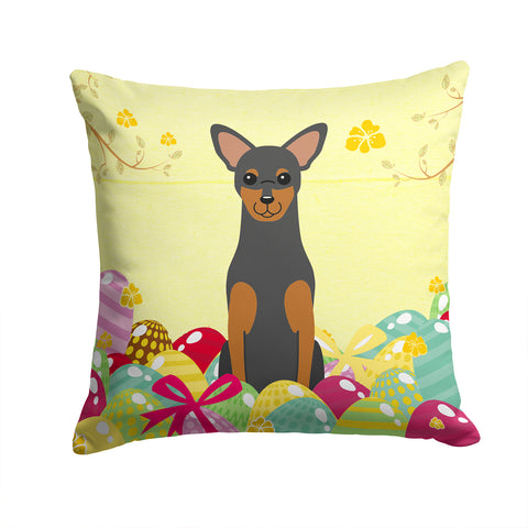 Buy this Easter Eggs Manchester Terrier Fabric Decorative Pillow BB6028PW1414