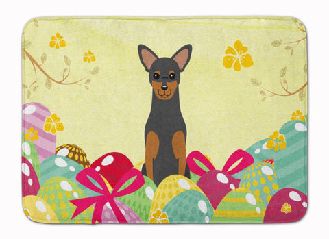 Buy this Easter Eggs Manchester Terrier Machine Washable Memory Foam Mat BB6028RUG