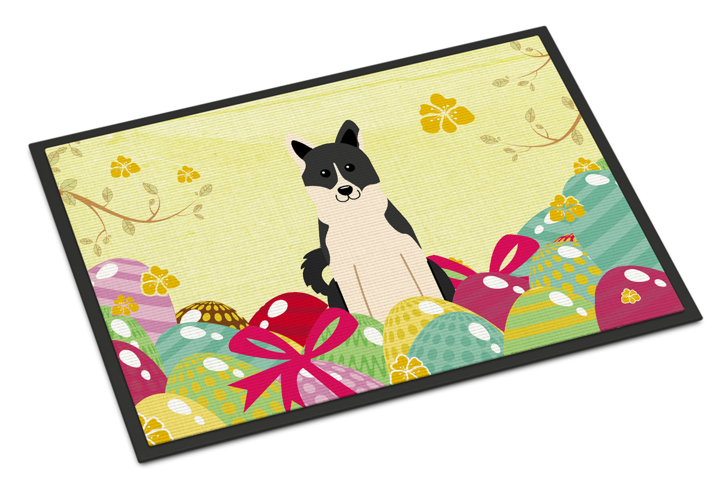 Easter Eggs Russo-European Laika Spitz Indoor or Outdoor Mat 18x27 BB6029MAT by Caroline's Treasures
