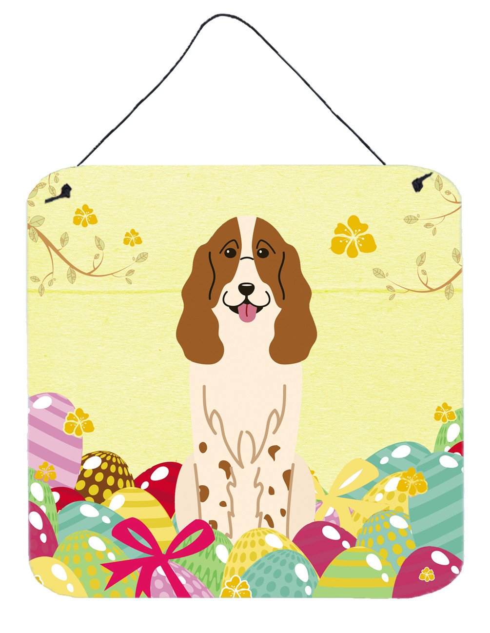 Easter Eggs Russian Spaniel Wall or Door Hanging Prints BB6031DS66 by Caroline's Treasures