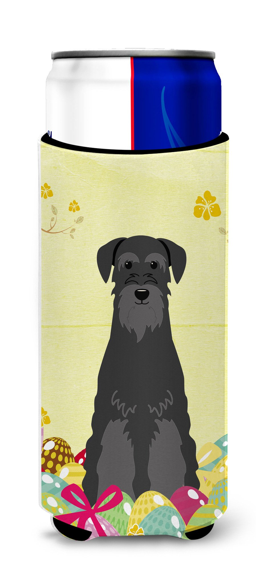 Easter Eggs Standard Schnauzer Black Michelob Ultra Hugger for slim cans BB6032MUK by Caroline's Treasures