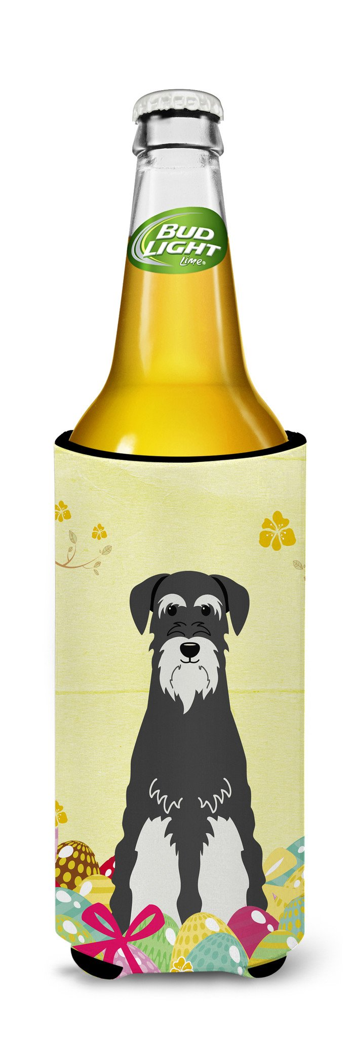 Easter Eggs Standard Schnauzer Salt and Pepper Michelob Ultra Hugger for slim cans BB6033MUK by Caroline's Treasures