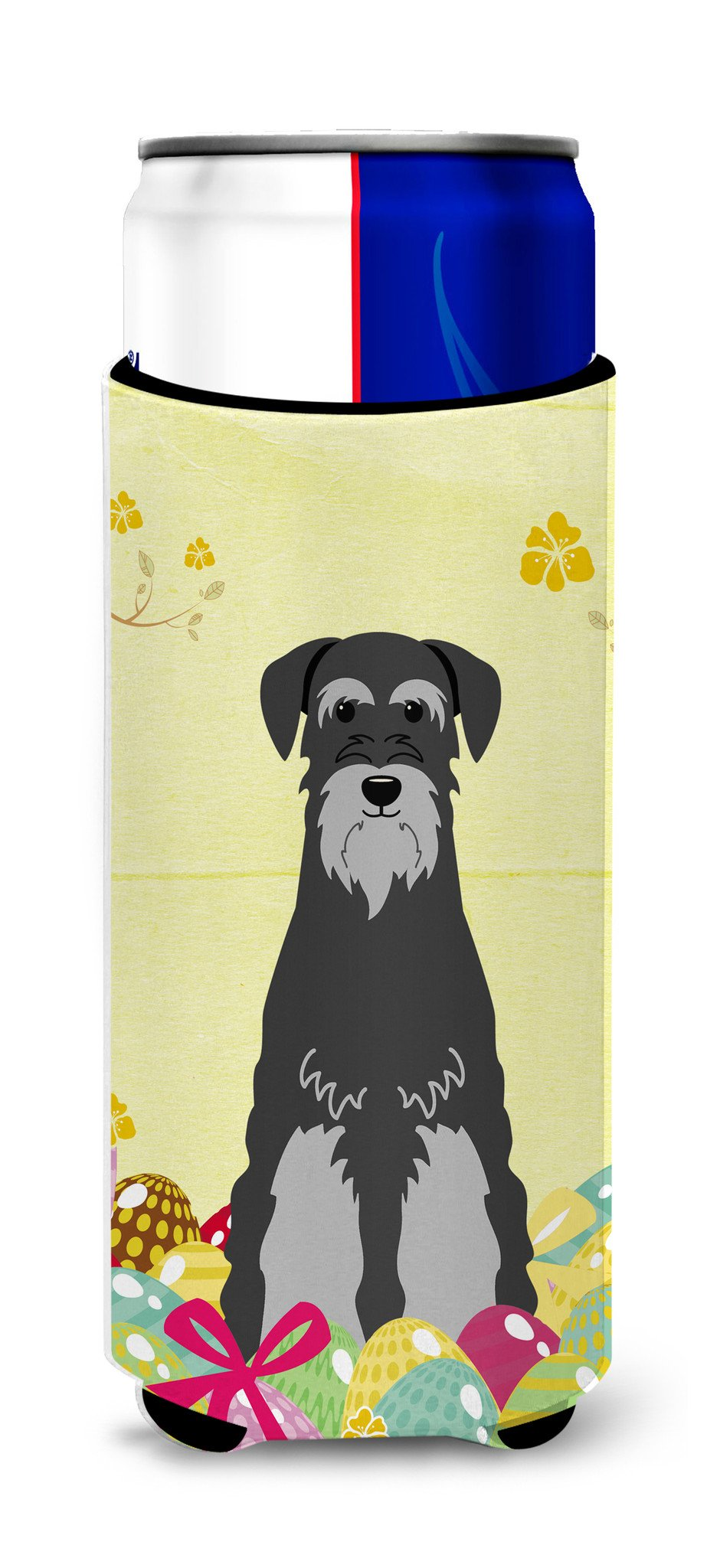 Easter Eggs Standard Schnauzer Black Grey Michelob Ultra Hugger for slim cans BB6034MUK by Caroline's Treasures