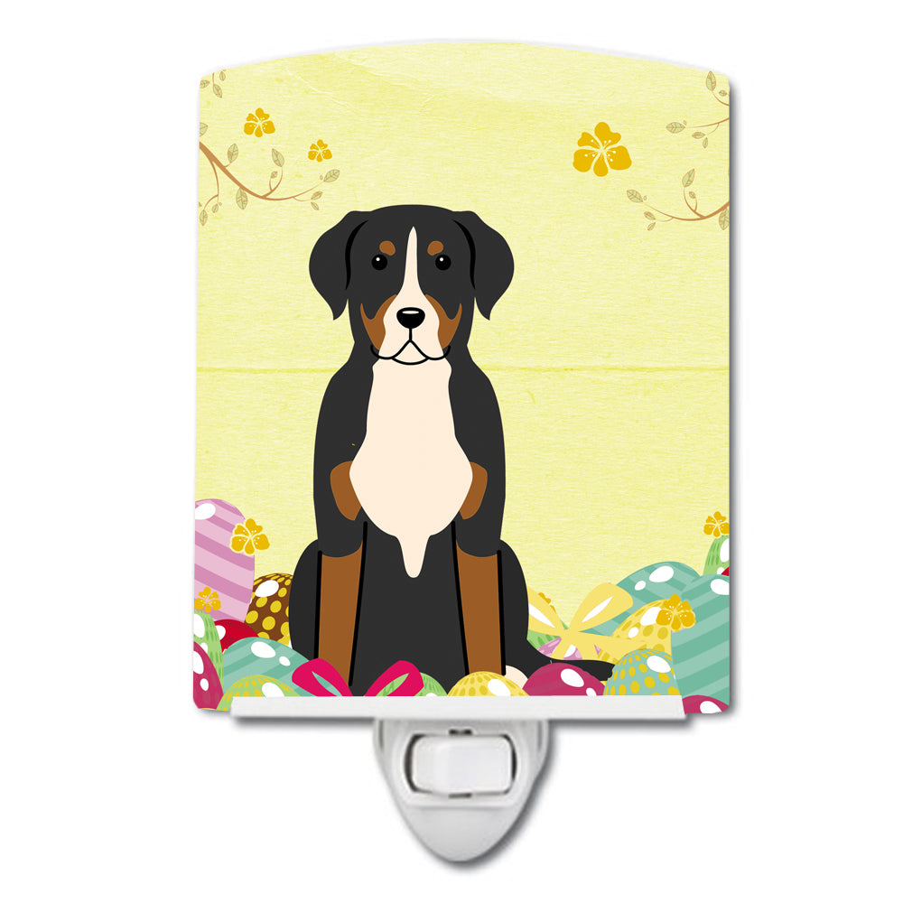 Easter Eggs Greater Swiss Mountain Dog Ceramic Night Light BB6037CNL by Caroline's Treasures