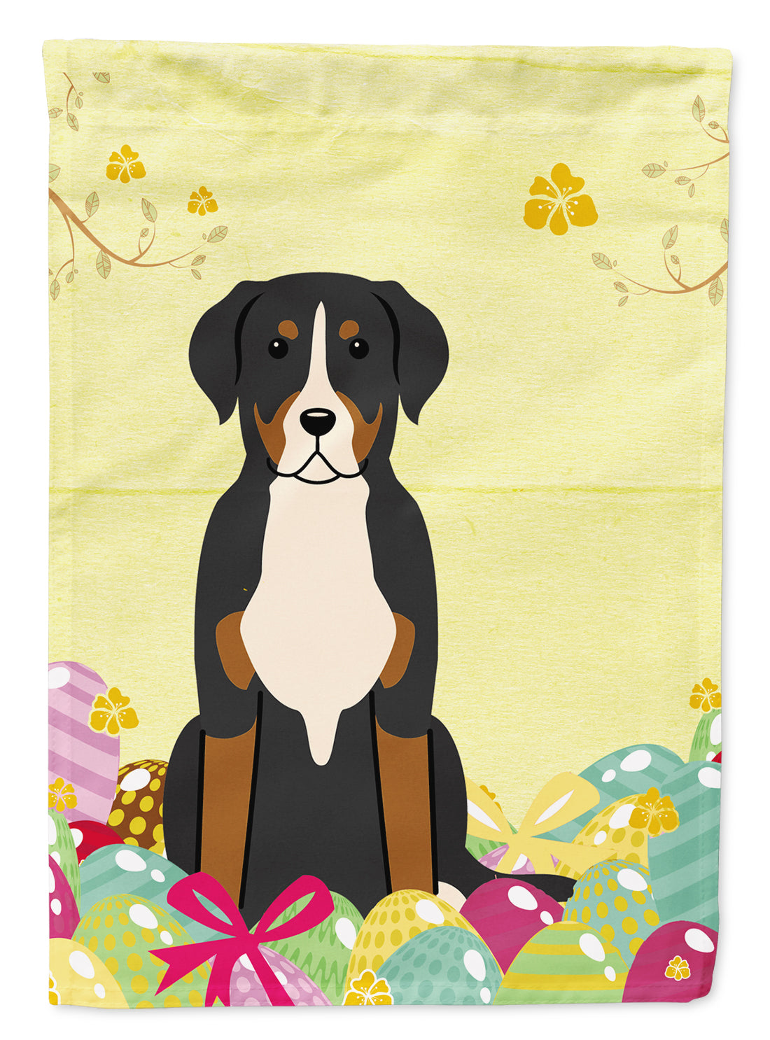 Easter Eggs Greater Swiss Mountain Dog Flag Garden Size BB6037GF by Caroline's Treasures