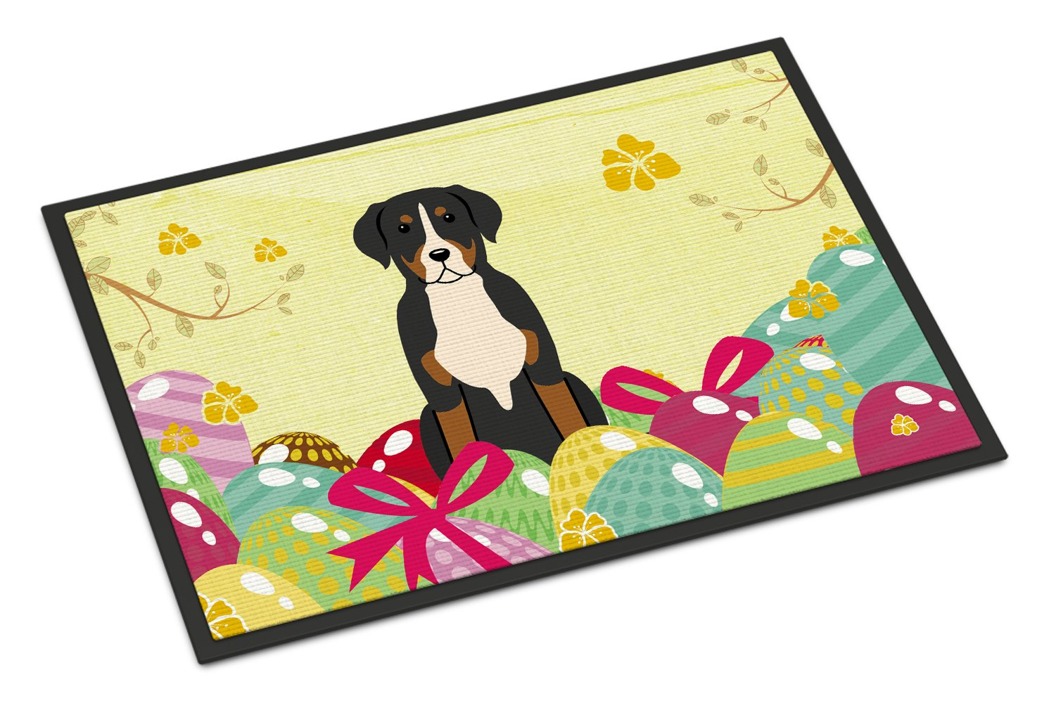 Easter Eggs Greater Swiss Mountain Dog Indoor or Outdoor Mat 24x36 BB6037JMAT by Caroline's Treasures