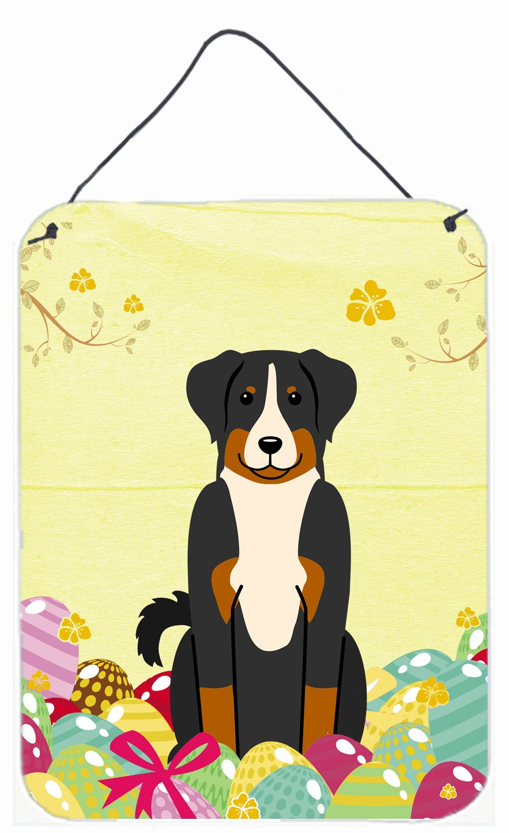 Easter Eggs Appenzeller Sennenhund Wall or Door Hanging Prints BB6043DS1216 by Caroline's Treasures