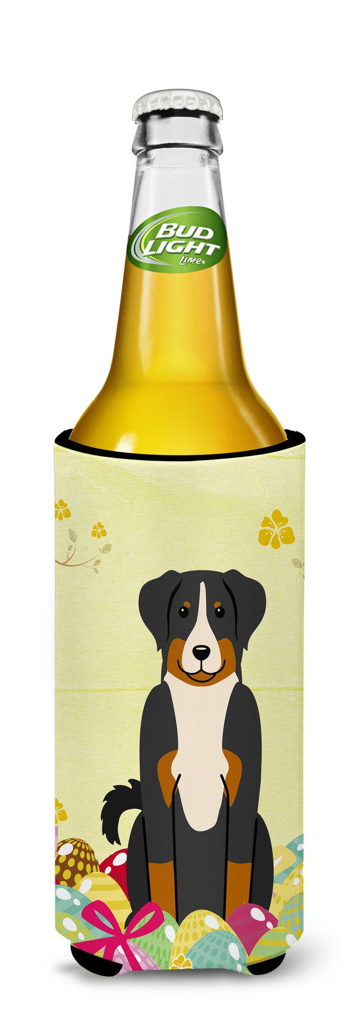 Easter Eggs Appenzeller Sennenhund Michelob Ultra Hugger for slim cans BB6043MUK by Caroline's Treasures