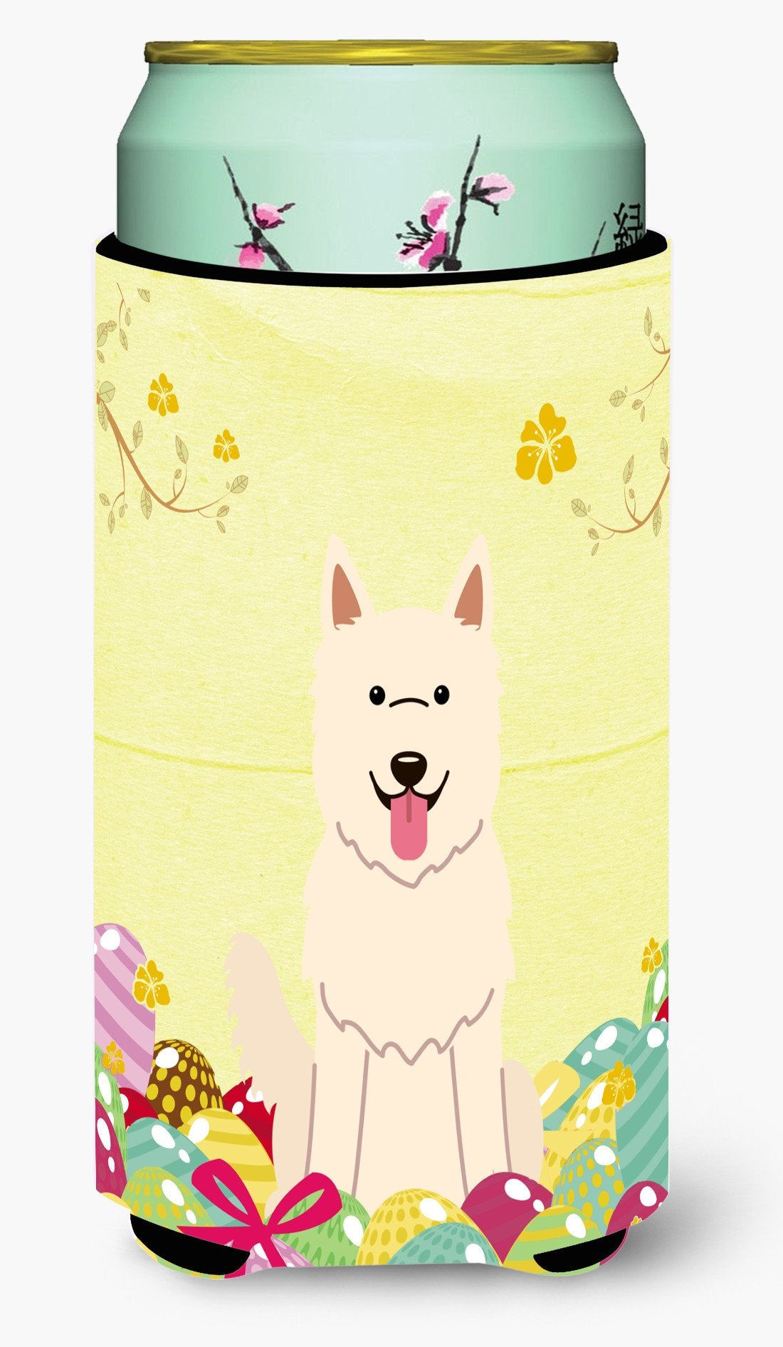 Easter Eggs White German Shepherd Tall Boy Beverage Insulator Hugger BB6045TBC by Caroline's Treasures