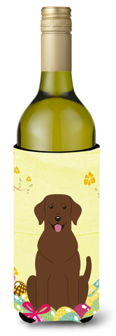 Buy this Easter Eggs Chocolate Labrador Wine Bottle Beverge Insulator Hugger BB6056LITERK