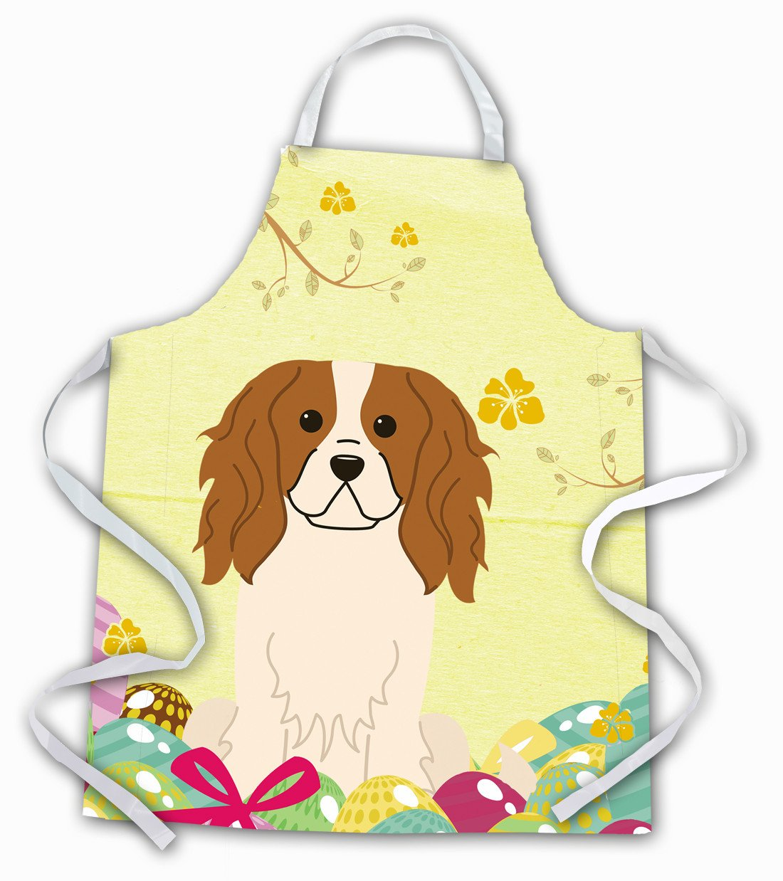 Easter Eggs Cavalier Spaniel Apron BB6058APRON by Caroline's Treasures