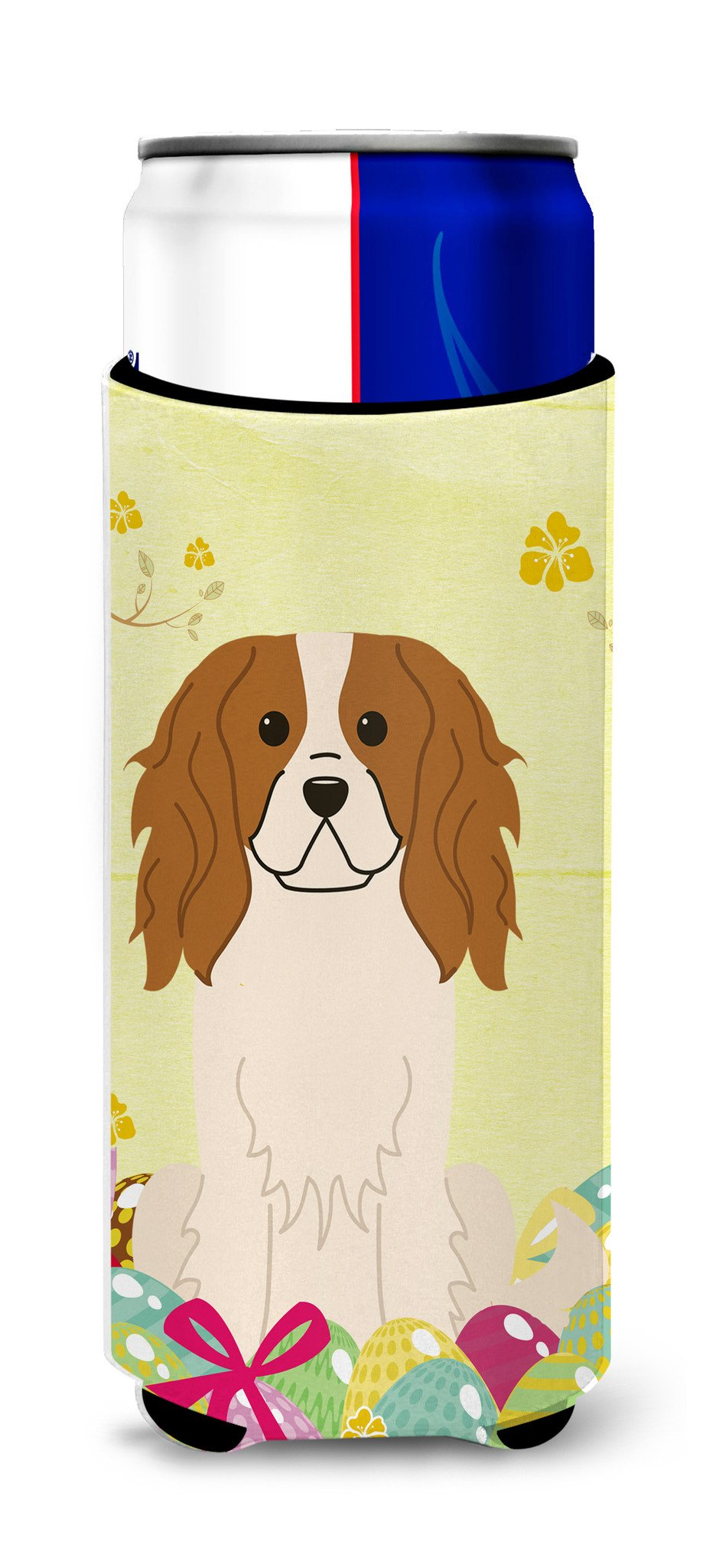 Easter Eggs Cavalier Spaniel Michelob Ultra Hugger for slim cans BB6058MUK by Caroline's Treasures