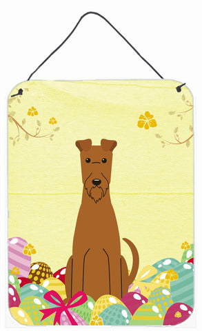 Buy this Easter Eggs Irish Terrier Wall or Door Hanging Prints BB6062DS1216