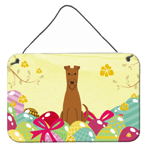 Buy this Easter Eggs Irish Terrier Wall or Door Hanging Prints BB6062DS812