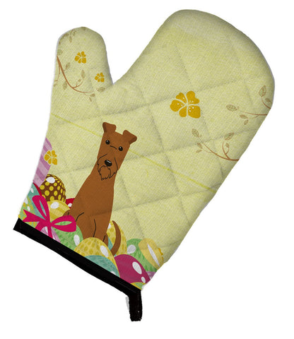 Buy this Easter Eggs Irish Terrier Oven Mitt BB6062OVMT