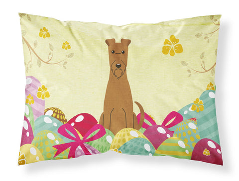 Buy this Easter Eggs Irish Terrier Fabric Standard Pillowcase BB6062PILLOWCASE