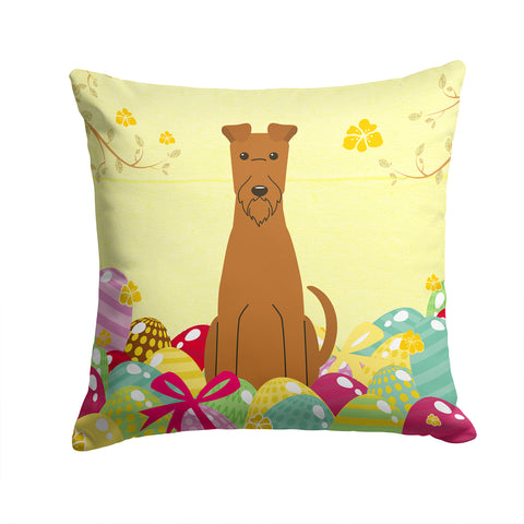 Buy this Easter Eggs Irish Terrier Fabric Decorative Pillow BB6062PW1414