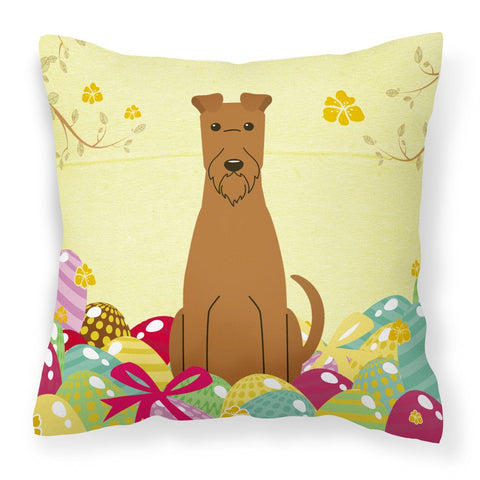 Buy this Easter Eggs Irish Terrier Fabric Decorative Pillow BB6062PW1818