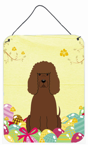 Buy this Easter Eggs Irish Water Spaniel Wall or Door Hanging Prints BB6063DS1216