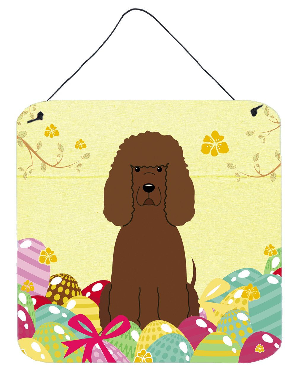 Easter Eggs Irish Water Spaniel Wall or Door Hanging Prints BB6063DS66 by Caroline's Treasures