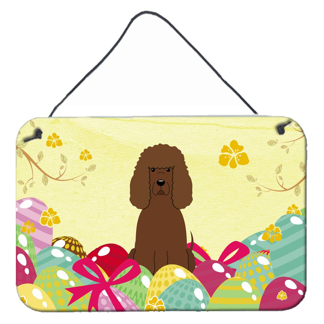 Easter Eggs Irish Water Spaniel Wall or Door Hanging Prints BB6063DS812 by Caroline's Treasures