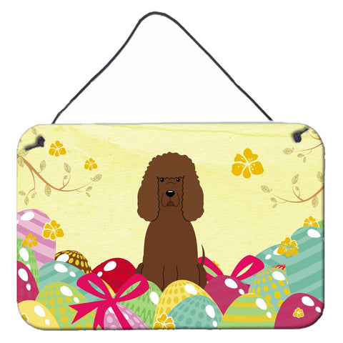 Buy this Easter Eggs Irish Water Spaniel Wall or Door Hanging Prints BB6063DS812