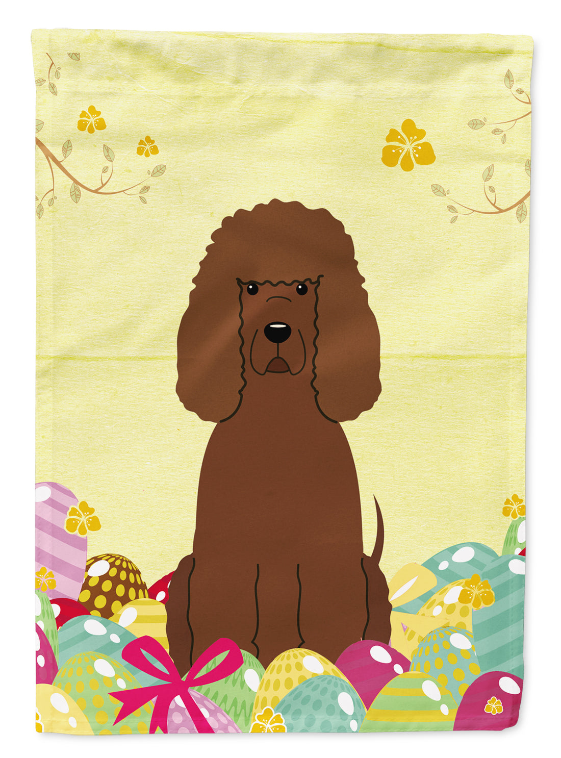 Buy this Easter Eggs Irish Water Spaniel Flag Garden Size BB6063GF