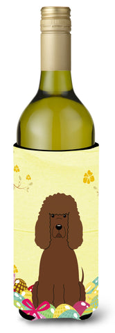 Buy this Easter Eggs Irish Water Spaniel Wine Bottle Beverge Insulator Hugger BB6063LITERK