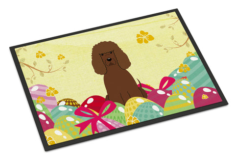 Buy this Easter Eggs Irish Water Spaniel Indoor or Outdoor Mat 18x27 BB6063MAT