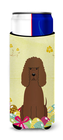Buy this Easter Eggs Irish Water Spaniel Michelob Ultra Hugger for slim cans BB6063MUK