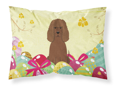 Buy this Easter Eggs Irish Water Spaniel Fabric Standard Pillowcase BB6063PILLOWCASE