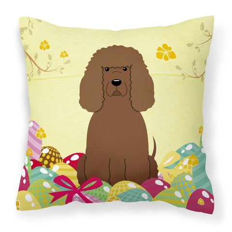 Buy this Easter Eggs Irish Water Spaniel Fabric Decorative Pillow BB6063PW1818