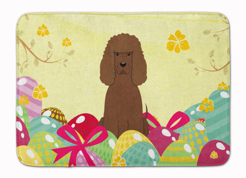 Buy this Easter Eggs Irish Water Spaniel Machine Washable Memory Foam Mat BB6063RUG