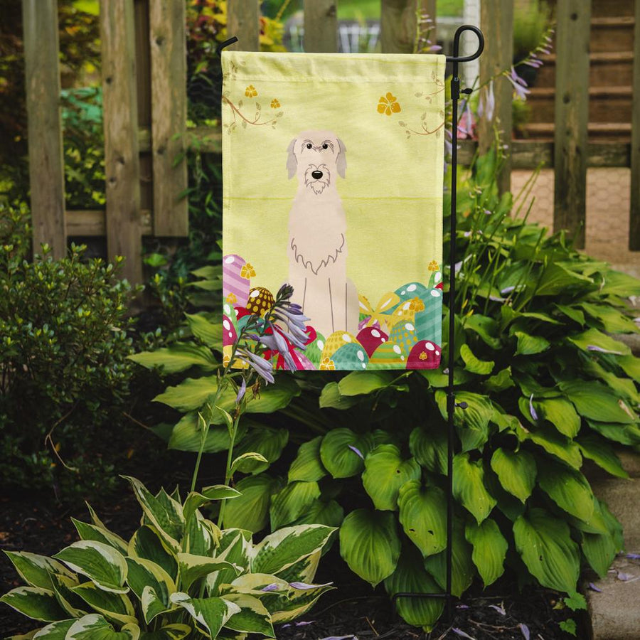 Buy this Easter Eggs Irish Wolfhound Flag Garden Size BB6065GF