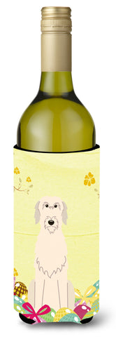 Buy this Easter Eggs Irish Wolfhound Wine Bottle Beverge Insulator Hugger BB6065LITERK