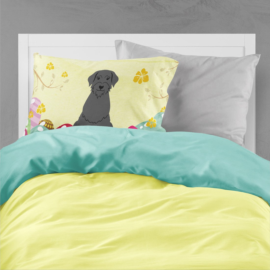 Easter Eggs Giant Schnauzer Fabric Standard Pillowcase BB6066PILLOWCASE by Caroline's Treasures