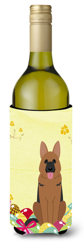 Buy this Easter Eggs German Shepherd Wine Bottle Beverge Insulator Hugger BB6067LITERK