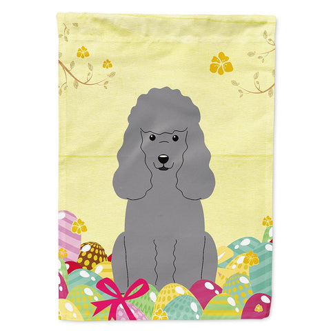 Buy this Easter Eggs Poodle Silver Flag Garden Size BB6068GF