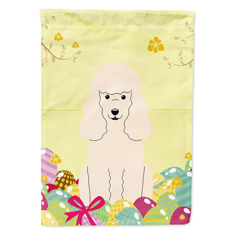 Buy this Easter Eggs Poodle White Flag Garden Size BB6070GF