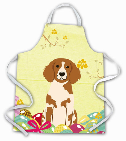 Buy this Easter Eggs Brittany Spaniel Apron BB6072APRON