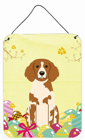 Buy this Easter Eggs Brittany Spaniel Wall or Door Hanging Prints BB6072DS1216
