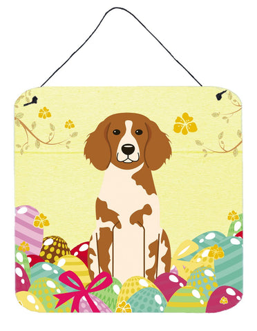 Buy this Easter Eggs Brittany Spaniel Wall or Door Hanging Prints BB6072DS66