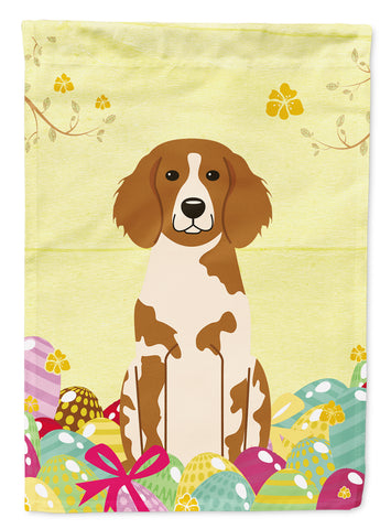 Buy this Easter Eggs Brittany Spaniel Flag Garden Size BB6072GF