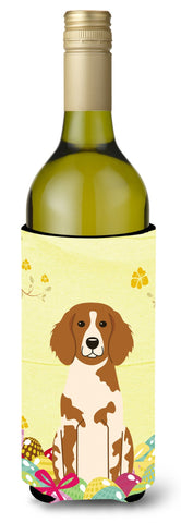 Buy this Easter Eggs Brittany Spaniel Wine Bottle Beverge Insulator Hugger BB6072LITERK