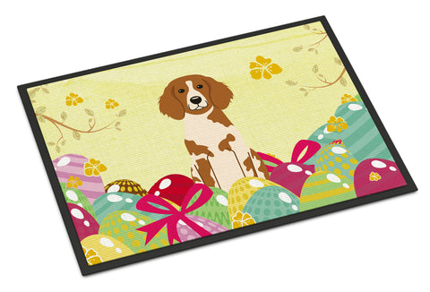Buy this Easter Eggs Brittany Spaniel Indoor or Outdoor Mat 18x27 BB6072MAT