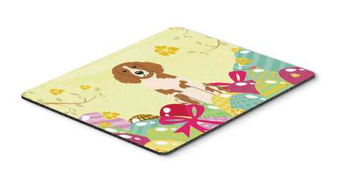 Buy this Easter Eggs Brittany Spaniel Mouse Pad, Hot Pad or Trivet BB6072MP