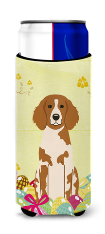 Buy this Easter Eggs Brittany Spaniel Michelob Ultra Hugger for slim cans BB6072MUK