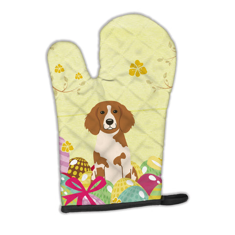 Buy this Easter Eggs Brittany Spaniel Oven Mitt BB6072OVMT